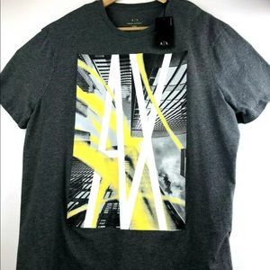 Armani Exchange A|X Gray Skyscrapers Graphic Tee